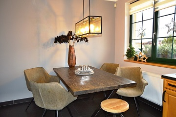 dining table grey wood