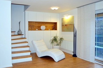 living room remodelling white